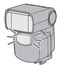 NEX-7에 외장 플래시를 장착하면 플래시의 AF 보조광이 작동하지 않습니다.