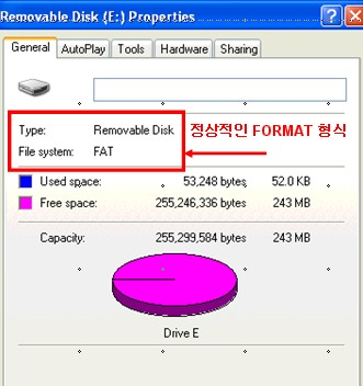 제품 디스플레이 화면에 FORMAT ERROR 가 나타나요?