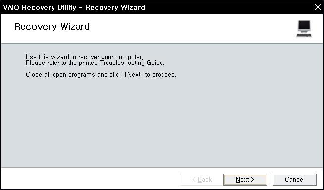 Windows를 다시설치( Recovery)하는 방법