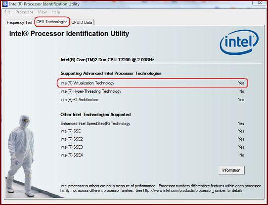 VAIO에 적용된 CPU의 Intel에 적용된 기술 확인 방법